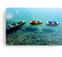 Three boats in Lanzarote Metal Print