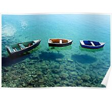 Three boats in Lanzarote Poster