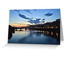 A Night in Florance Greeting Card