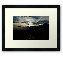 Sunset in Austria Framed Print