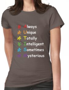 Autism Facts Womens Fitted T-Shirt