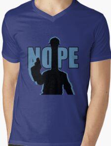 """BLU """"NOPE"""" Engineer - Team Fortress 2 Mens V-Neck T-Shirt"""