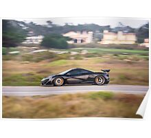 McLaren P1 Fly By Poster
