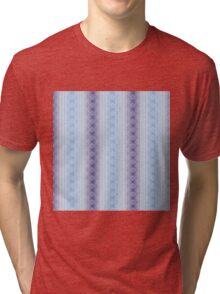 Tribal Geo Repeat 3 Purples and Blues Tri-blend T-Shirt