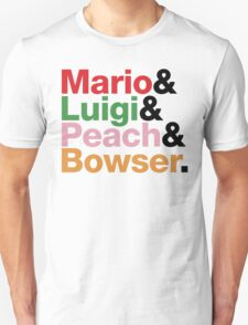 Mario.Luigi.Peach.Bowser. T-Shirt