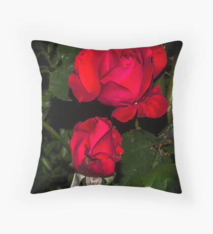 Rose in the night Throw Pillow