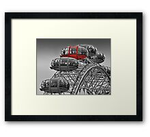 The Red Pod - The London Eye Framed Print
