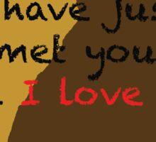 I love you- Dug Sticker
