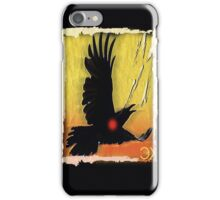 crow in flight iPhone Case/Skin
