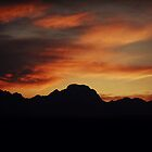 Sunset over the Tetons by Kaitlin Kelly