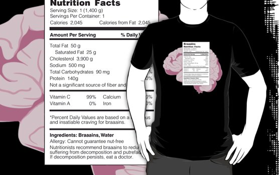 Braaains: Nutrition Facts | Zombies by rydrew