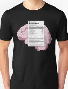 Braaains: Nutrition Facts | Zombies T-Shirt