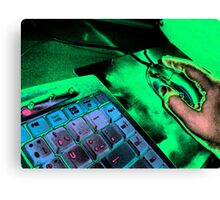 Keyboard and mouse Canvas Print