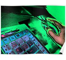 Keyboard and mouse Poster