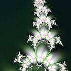 White Flower Sprig by AntiCollegial