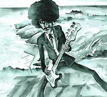 Phil Lynott in Howth in Ireland by Goodaboom