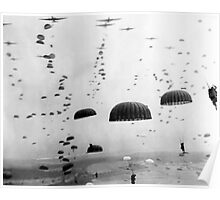 Airborne Mission During WW2 Painting Poster