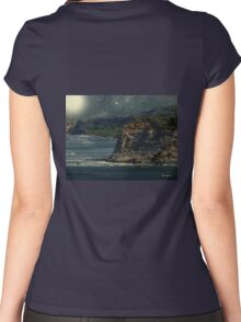 Moonlit Cove Women's Fitted Scoop T-Shirt