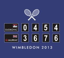 Andy Murray Wimbledon Champion 2013. (4 dk shirts) by artyminds