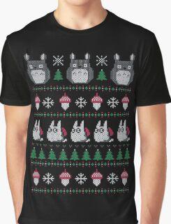 My Neighbor's Ghibli Totoro Ugly Christmas Graphic T-Shirt