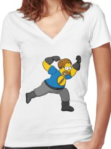 Captain Auto Hammer Women's Fitted V-Neck T-Shirt