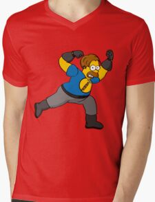 Captain Auto Hammer Mens V-Neck T-Shirt