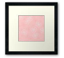 Pink Floral Seamless Pattern Framed Print