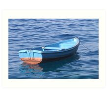 Small Boat Floating on Water Art Print