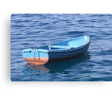 Small Boat Floating on Water Canvas Print