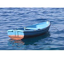 Small Boat Floating on Water Photographic Print