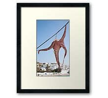Octopus Hanging Framed Print