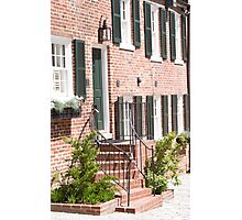 Georgetown, Washington DC Townhouse Photographic Print
