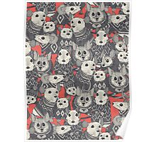 sweater mice coral red Poster