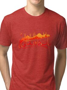 Istanbul Skyline Tri-blend T-Shirt