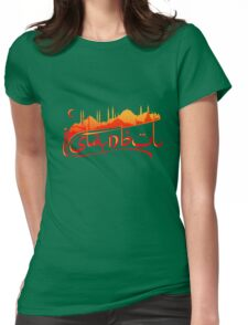 Istanbul Skyline Womens Fitted T-Shirt