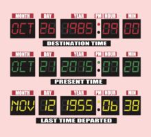 Back To The Future Panel Date Kids Clothes