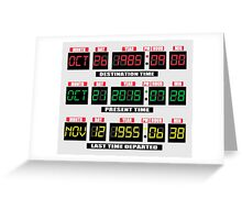 Back To The Future Panel Date Greeting Card