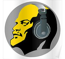 Lenin with Headphones Poster