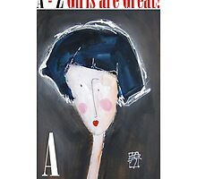 A - Alphabet Gal by Joanie Springer