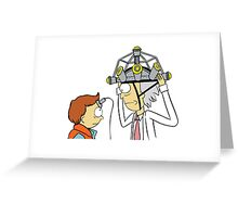 Back To The Future Morty Greeting Card