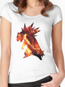 Typholsion used inferno Women's Fitted Scoop T-Shirt