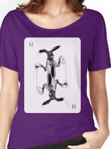 March Hare Card Design Women's Relaxed Fit T-Shirt