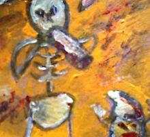 Zombie stick man comic by patcatart