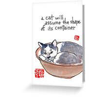 Bowlful of Cat Greeting Card