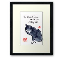 Picture of Calm (Cat) Framed Print