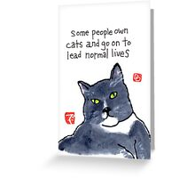 Life with a Cat Greeting Card