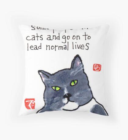 Life with a Cat Throw Pillow