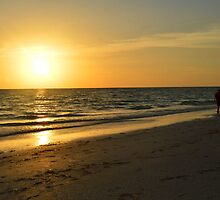 Evening At The Beach by rosaliemcm