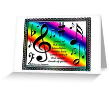 Thoughts On Music Greeting Card