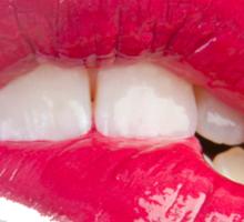 biting lips Sticker